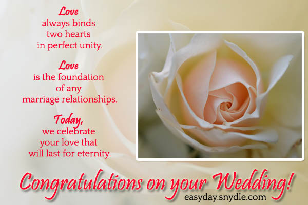 Top wedding wishes and messages easyday wedding wishes image m4hsunfo