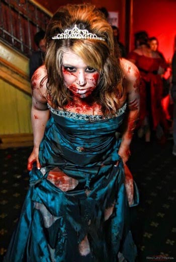 Best and scary halloween makeup ideas 2017 easyday if you hated prom then this might suit you well make yourself a zombie rip off from the prom that ruined your high school life solutioingenieria Gallery