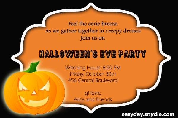 halloween party invitation wording - easyday, Party invitations