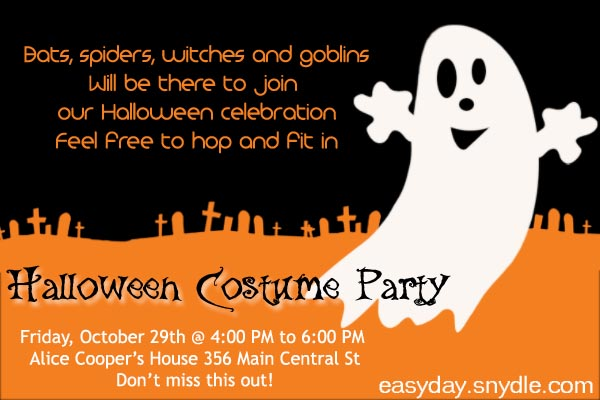 Halloween Party Invitation Wording Easyday