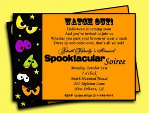 halloween party invitation wording