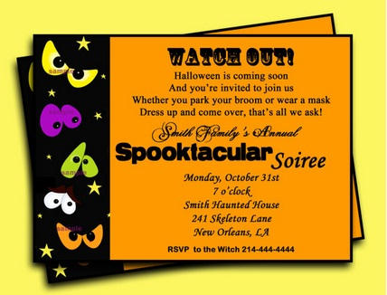 Halloween Party Invitation Wording Easyday – Invitation Quotes for Party