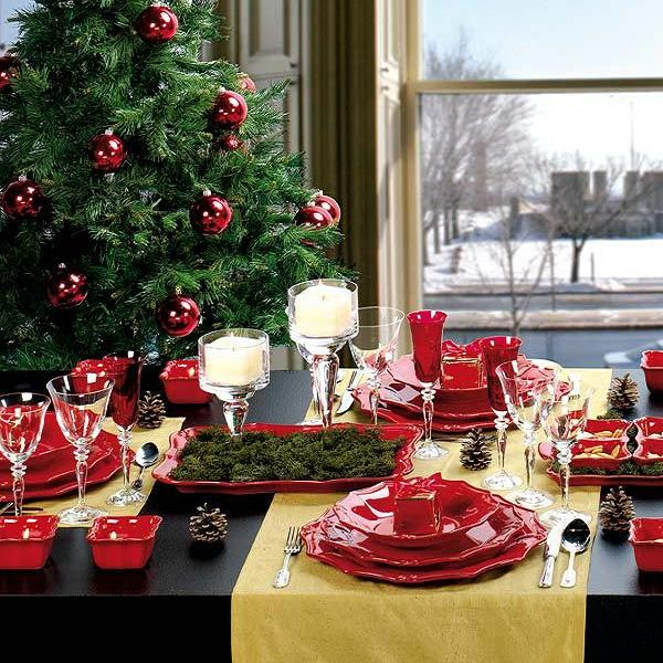 table setting ideas for christmas dinner