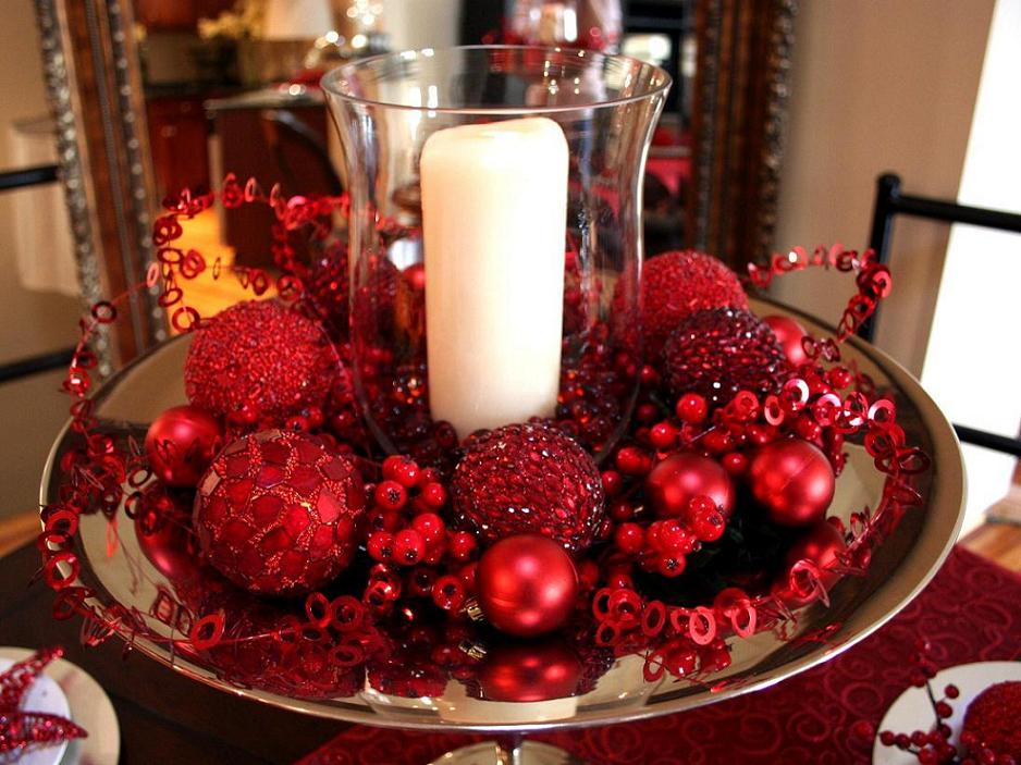 christmas table decorations 1 - Easy Christmas Table Decorations Ideas