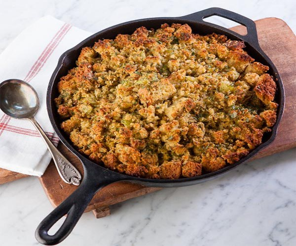 Corn Bread Challah Stuffing