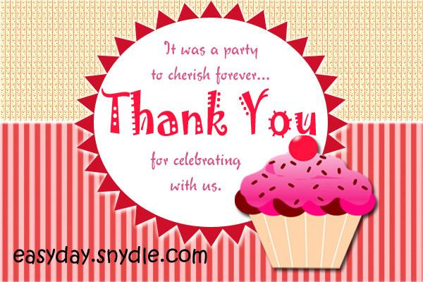 Thank You Card Messages For Birthday Gifts Cute Birthday Gift – Thanks for Birthday Card