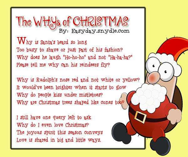 Funny Christmas Poems For Kids