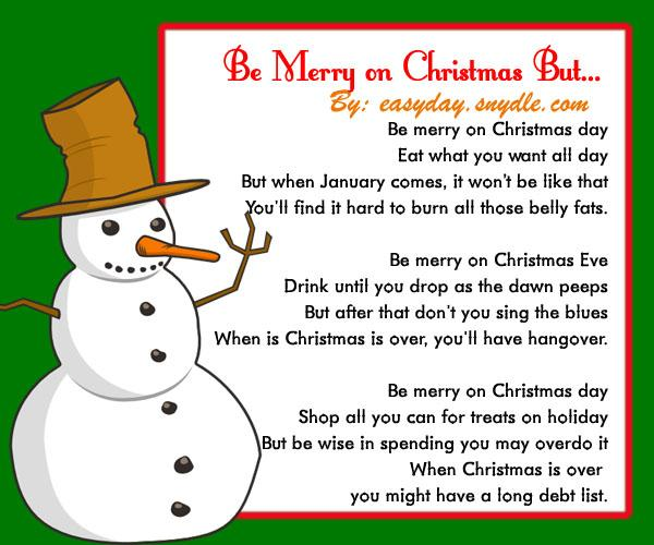 funny-christmas-poems - Easyday