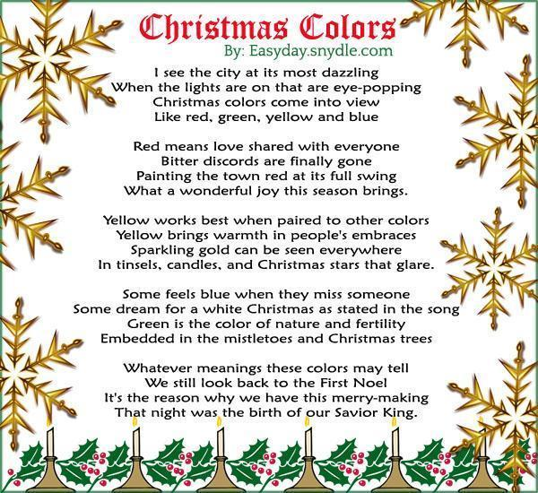 Legend Of The Christmas Tree Poem: Religious-christmas-poems