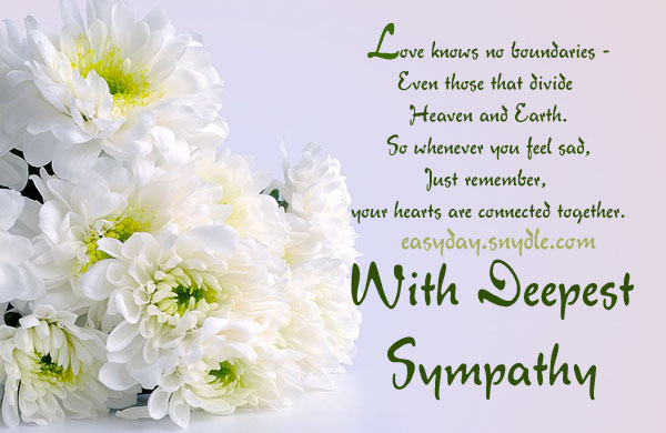 Sympathy Card Messages...
