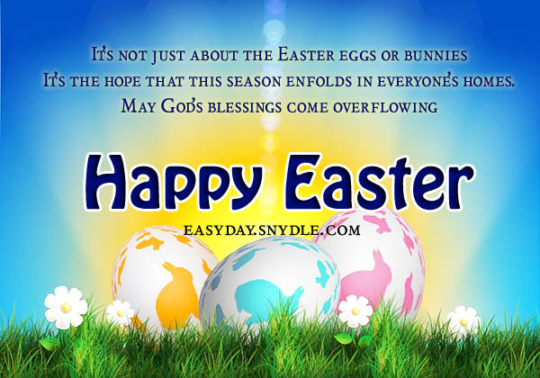 Easter Greetings Messages and Religious Easter Wishes Easyday – Easter Messages for Cards