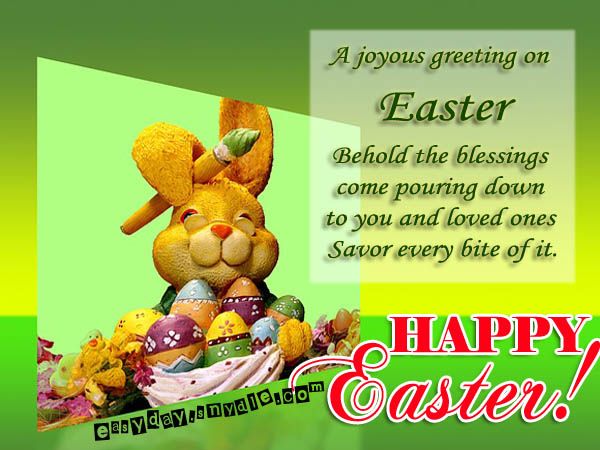Easter Greetings Messages and Religious Easter Wishes Easyday – Easter Card Messages