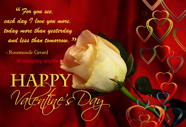 Romantic Valentines Day Sayings For Wife Special happy valentine