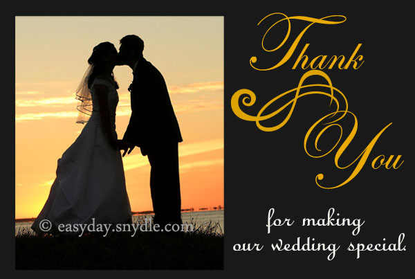 Thank You Card Wording For Wedding Gifts: Wedding Thank You Card Wording Samples