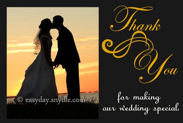 Wedding Thank You Card Wording Samples