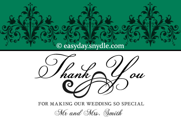 Wedding Thank You Card Wording Samples  Easyday