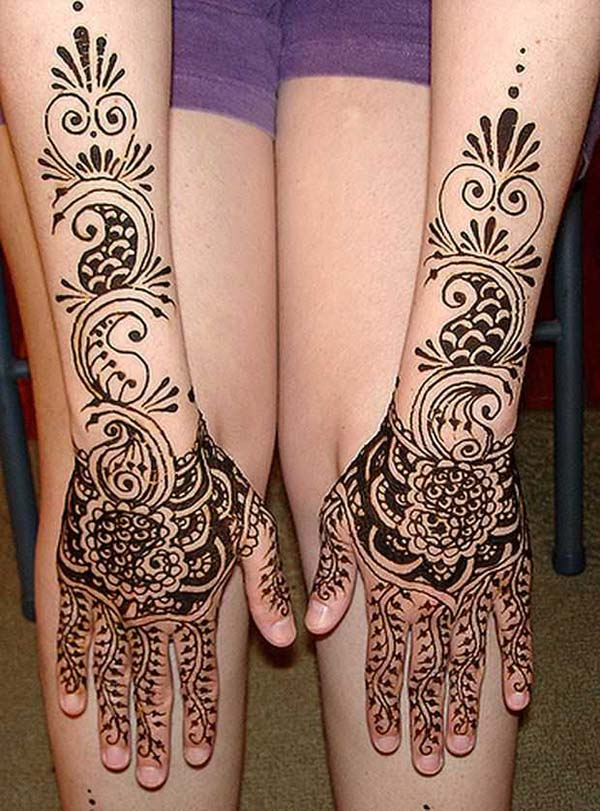 17 beautiful and amazing latest mehndi designs easyday. Black Bedroom Furniture Sets. Home Design Ideas