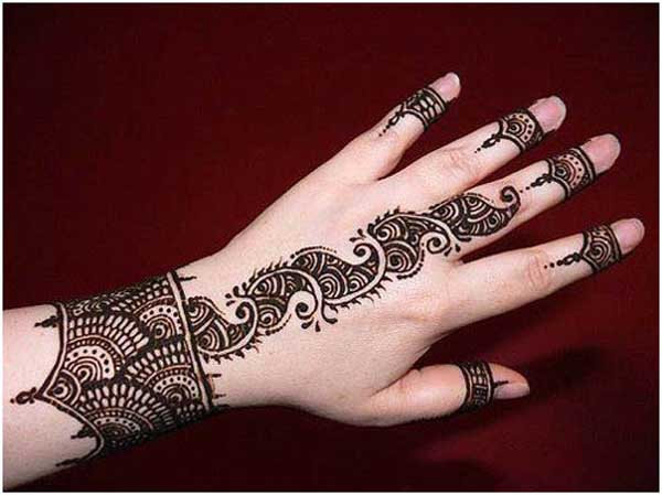 Mehndi Easy Design : Amazingly easy mehndi designs for hands and feet easyday