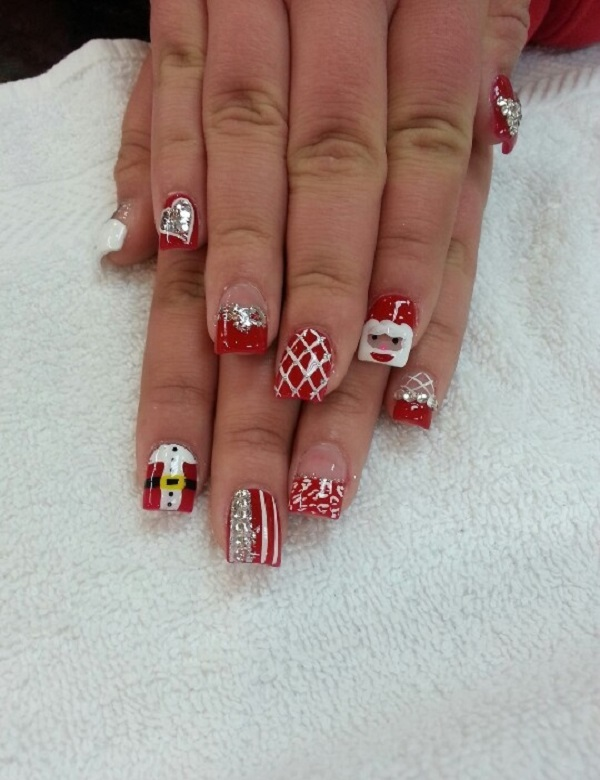 French Tip Christmas Nail Designs