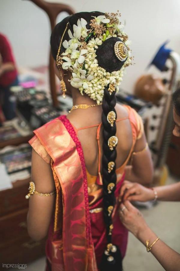 Jasmine Flower Hairstyle Kerala