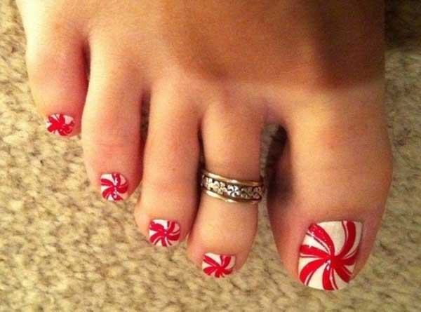 Christmas Toe Nail Designs Easyday