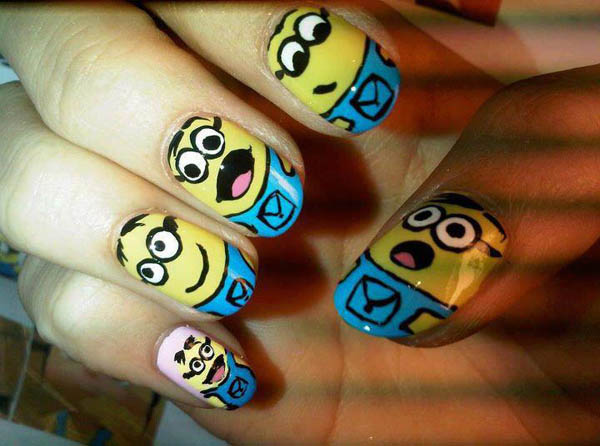 cute-minion-nail-designs