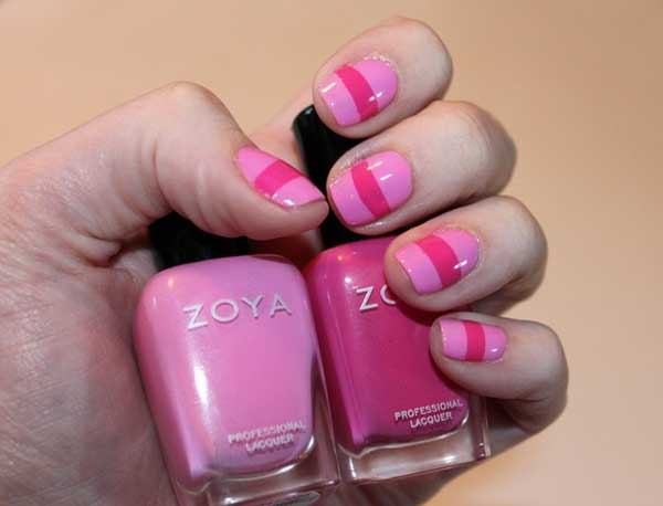 Simple nail designs pink : Easy pink nail designs easyday