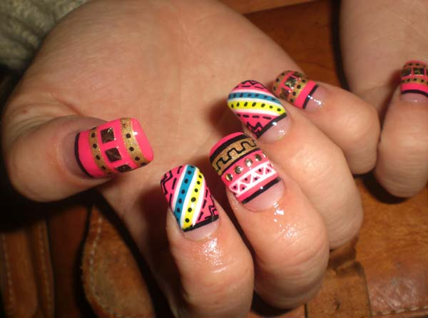 funky-short-nail-designs