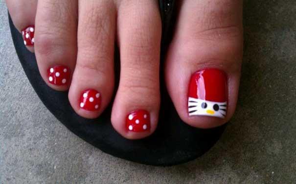 Hello Kitty Toe Nail Designs Easyday