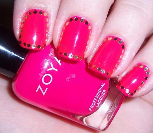 hot-pink-nail-designs