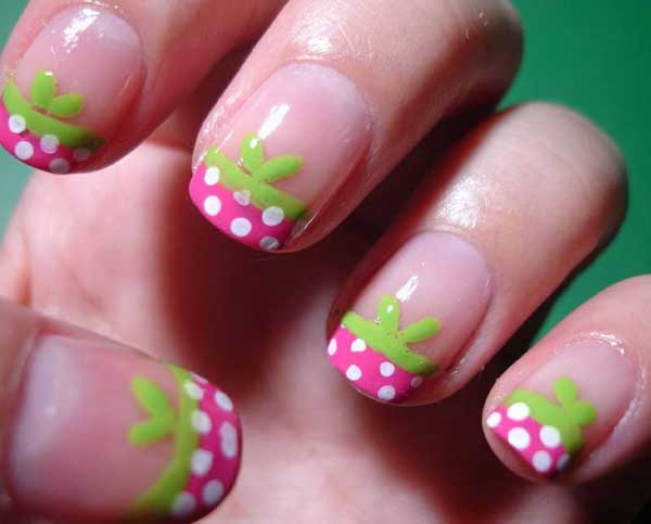 Nail Designs Pink Green : Easy pink nail designs easyday