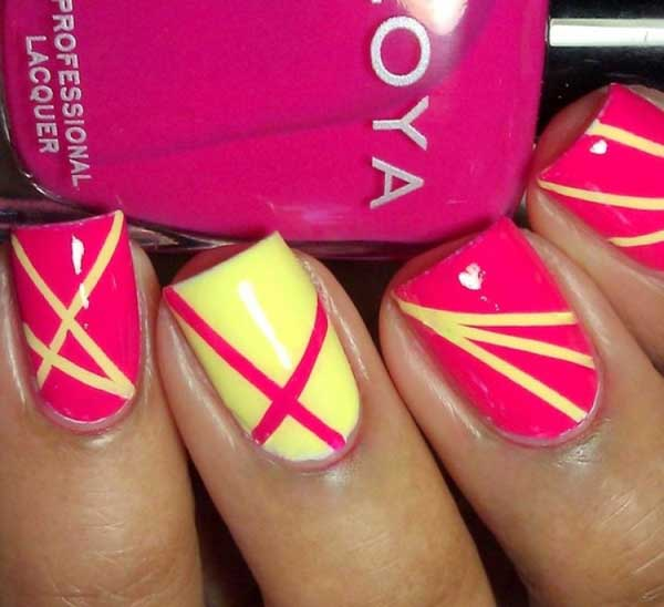 21 Easy Pink Nail Designs