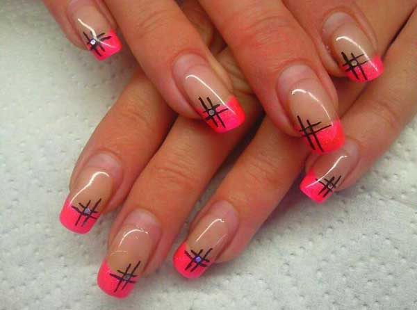 pink tip nail designs image pinterest nail tip designs ideas - Nail Tip Designs Ideas