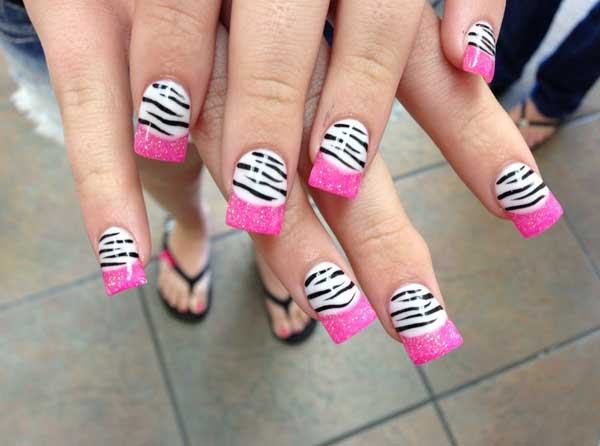 Zebra pink nail designs easyday zebra pink nail designs prinsesfo Image collections