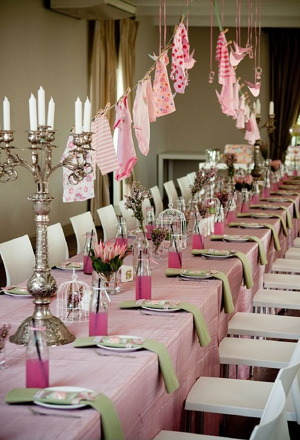 18 baby shower decorating ideas for girls easyday for Baby shower ceiling decoration ideas