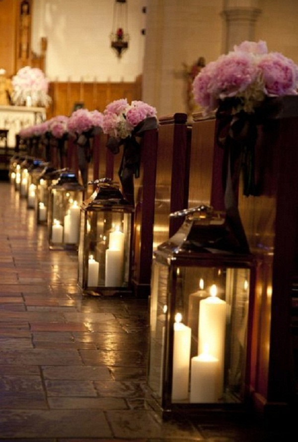 Creative church wedding decorations easyday wedding church pew decorations image source junglespirit