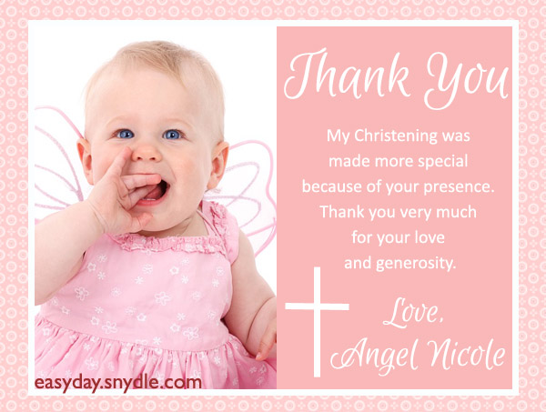 Thank you text messages for baptism and christening easyday baptism thank you messages stopboris Choice Image