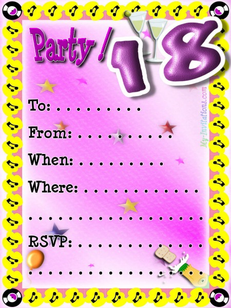 18th birthday invitation maker and how to make your own invitation source stopboris Image collections