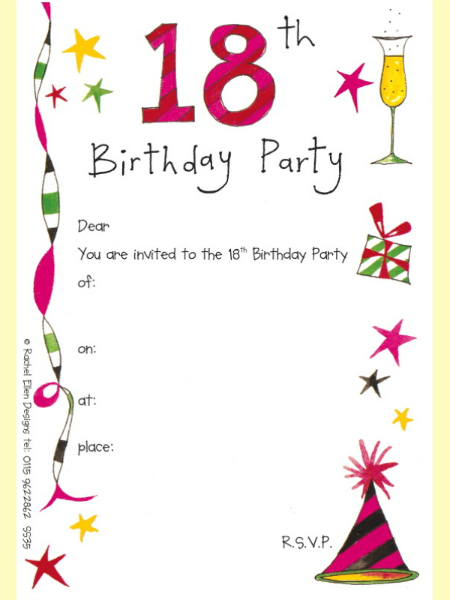 18th birthday invitation maker and how to make your own invitation source filmwisefo Gallery