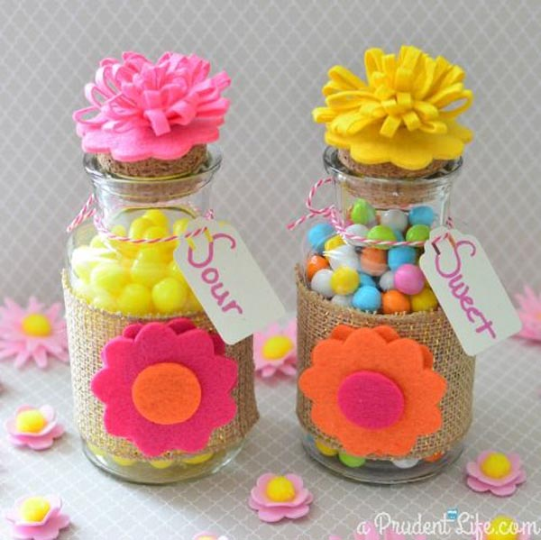 Cute and inexpensive easter gift ideas easyday homemade candy jars from a prudent life negle