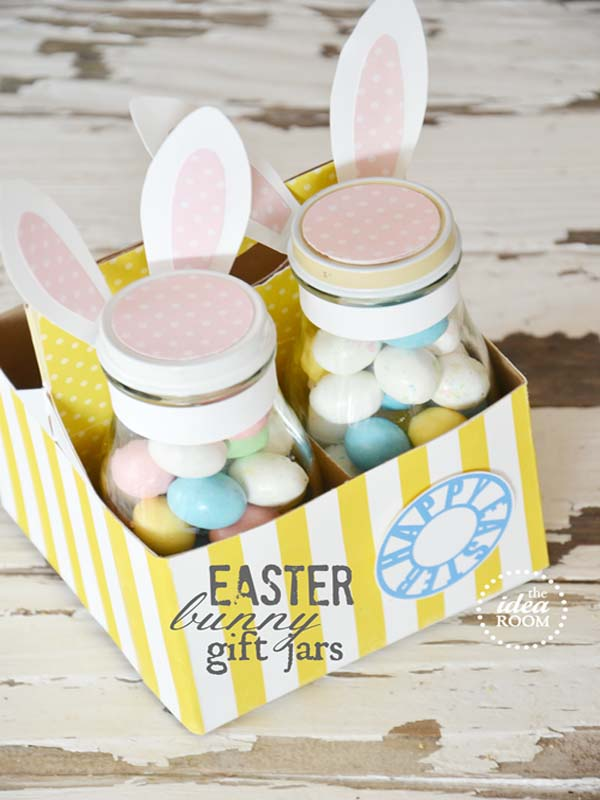 Easter Bunny Gift Jars from The Ideas Room