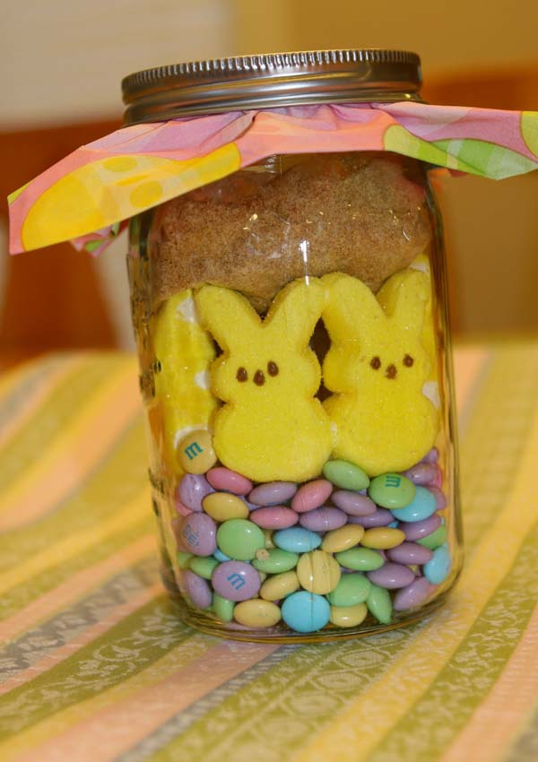Easter S'more Peeps in a Jar from 24/7 Moms