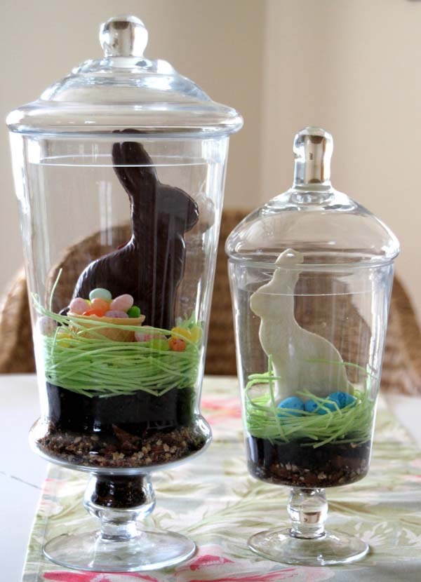 Cute and inexpensive easter gift ideas easyday crafty egg wraps with rabbit plushie from diy enthusiasts edible terrarium from hgtv gardens negle Gallery