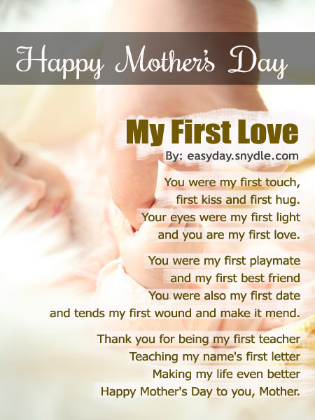 Mothers Day Poems With Image Easyday