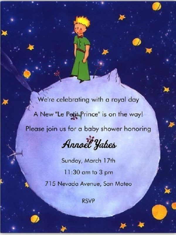 Prince Themed Baby Shower Invitations - Easyday