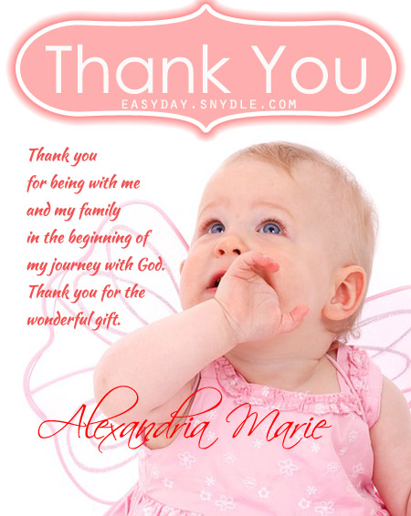 Thank you text messages for baptism and christening easyday thank you messages for christening stopboris Choice Image