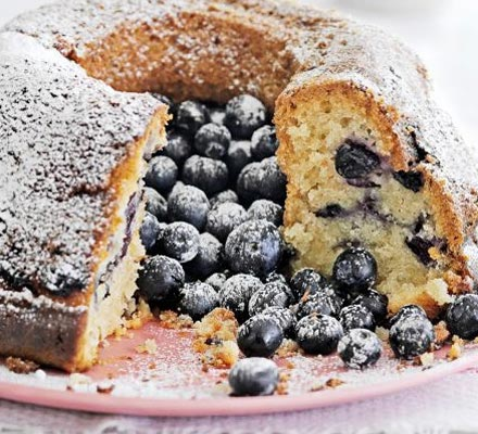 Blueberry & coconut cake