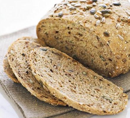 Malted walnut seed loaf