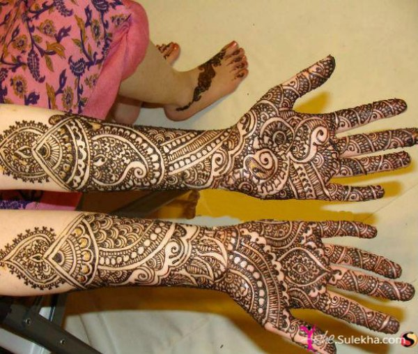 grand mehendi designs