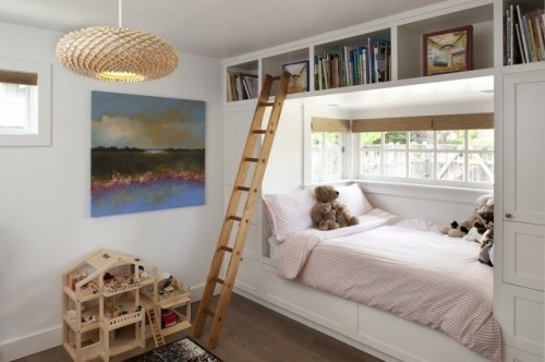 1 simple white kids bedroom